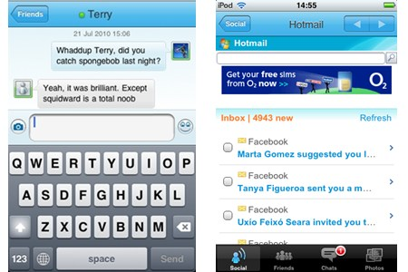 Messenger Hotmail para iPhone / iPod